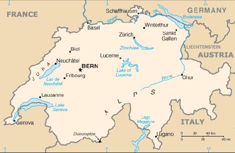 kart over sveits Fakta og nøkkelinformasjon   Sveits kart over sveits